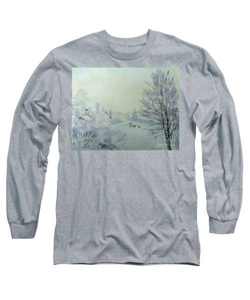 Winter Visitors Long Sleeve T-Shirt by Martin Howard