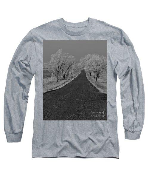 A Rural Winter's Road Long Sleeve T-Shirt
