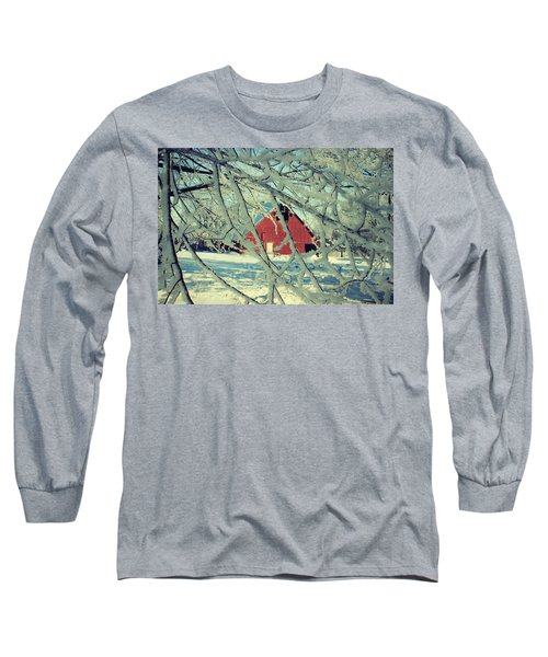 Our Frosty Barn Long Sleeve T-Shirt by Julie Hamilton