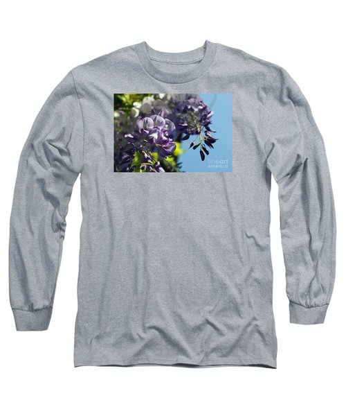 Long Sleeve T-Shirt featuring the photograph Wisteria IIi by Cassandra Buckley