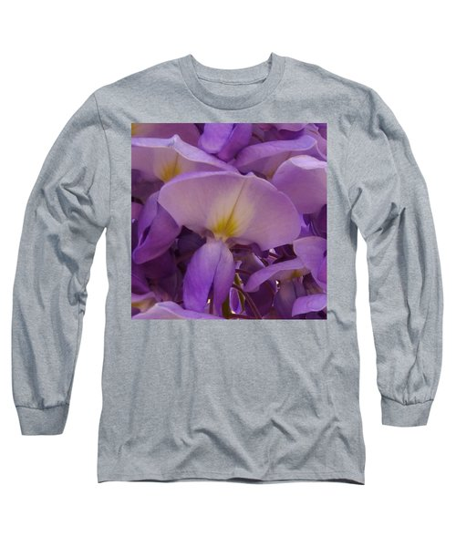 Wisteria Parasol Long Sleeve T-Shirt by Claudia Goodell