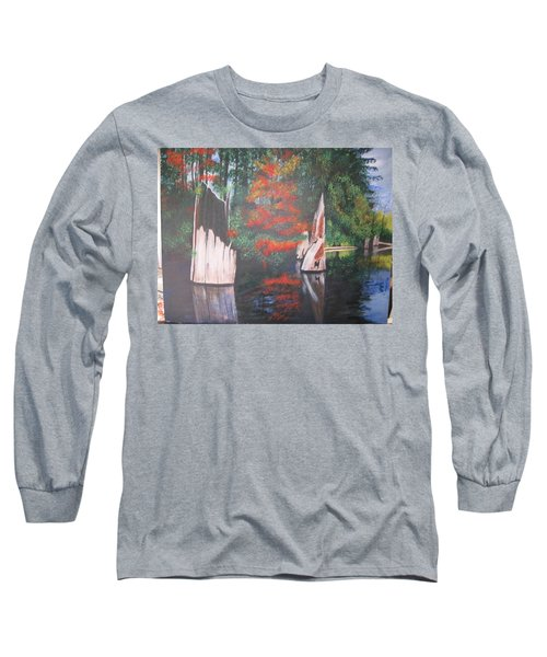 Wolf Lake On Vancouver Island  Long Sleeve T-Shirt