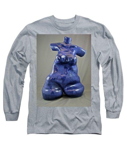 Woman #4 Long Sleeve T-Shirt by Mario Perron