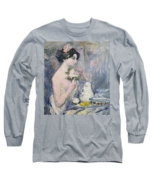 Woman With A Bouquet Long Sleeve T-Shirt