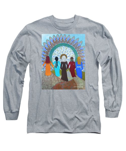 Women's Circle Mandala Long Sleeve T-Shirt
