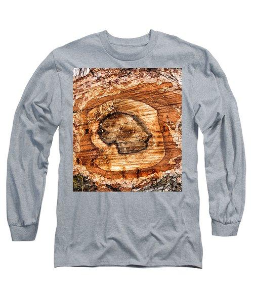 Wood Detail Long Sleeve T-Shirt by Matthias Hauser