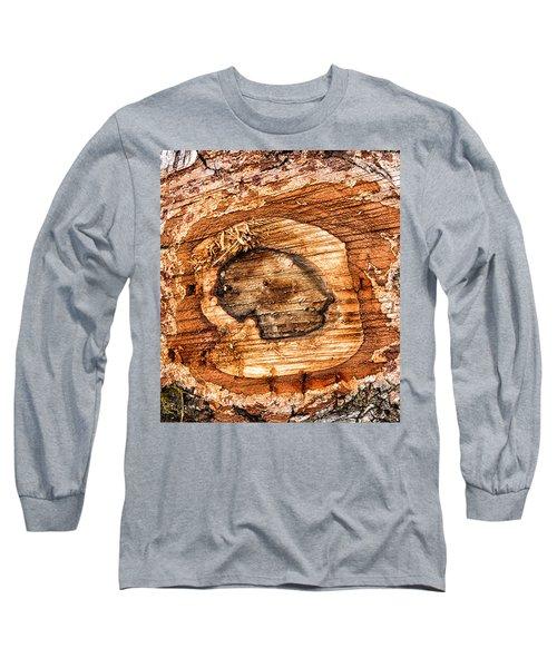 Wood Detail Long Sleeve T-Shirt