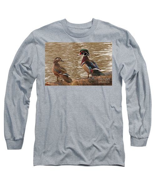 Long Sleeve T-Shirt featuring the photograph Wood Duck Photo by Luana K Perez