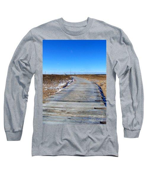 Long Sleeve T-Shirt featuring the photograph Plum Island by Eunice Miller