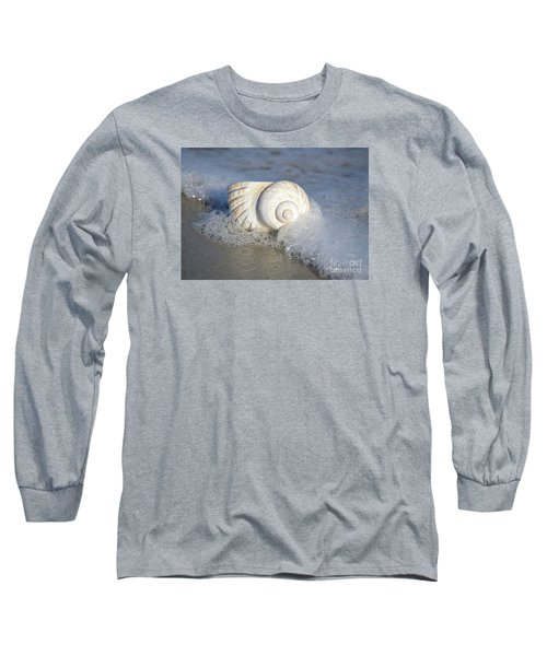 Long Sleeve T-Shirt featuring the photograph Worn By The Sea by Kathy Baccari