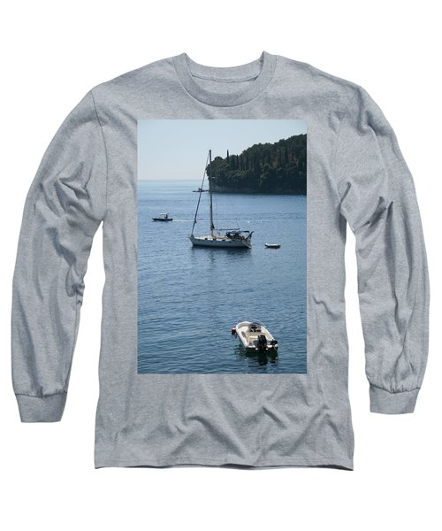 Yachts At Anchor Long Sleeve T-Shirt