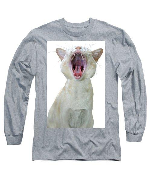Yawning Cat Long Sleeve T-Shirt