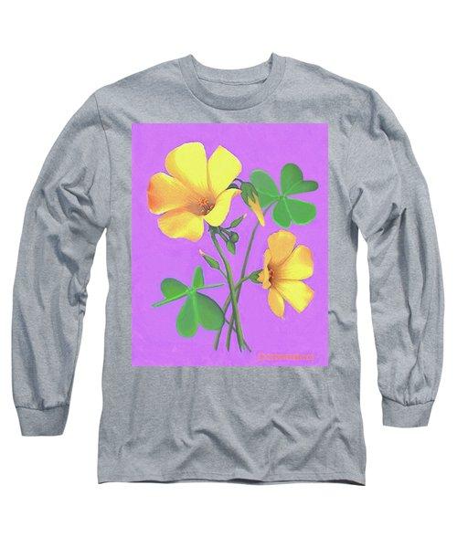 Yellow Clover Flowers Long Sleeve T-Shirt