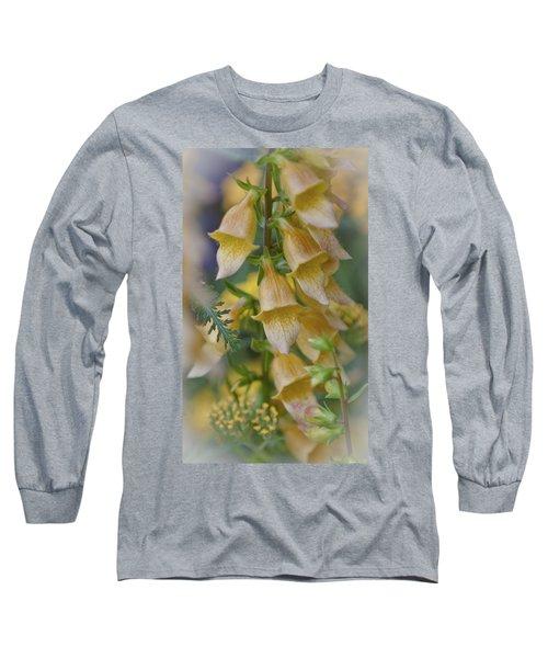 Yellow Digitalis Long Sleeve T-Shirt by Maj Seda