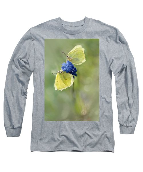 Long Sleeve T-Shirt featuring the photograph Yellow Duet by Jaroslaw Blaminsky