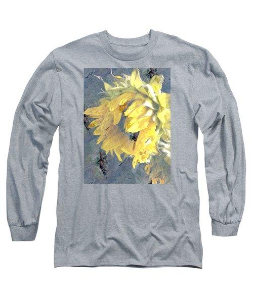 Yellow Fading Flower Long Sleeve T-Shirt