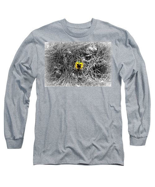 Long Sleeve T-Shirt featuring the photograph Yellow Pansy by Tara Potts