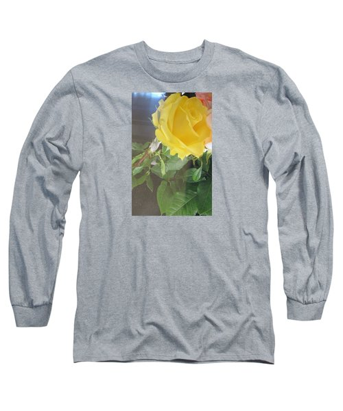 Yellow Rose- Greeting Card Long Sleeve T-Shirt