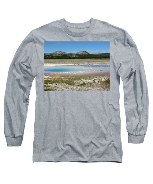 Yellowstone Landscape Long Sleeve T-Shirt by Laurel Powell