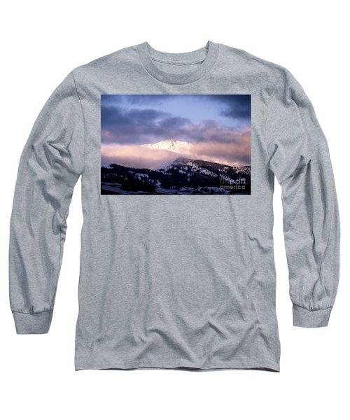 Yellowstone Morning Long Sleeve T-Shirt by Sharon Elliott