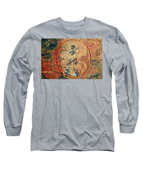 Yin-yang Expressions Long Sleeve T-Shirt by Ed Hall
