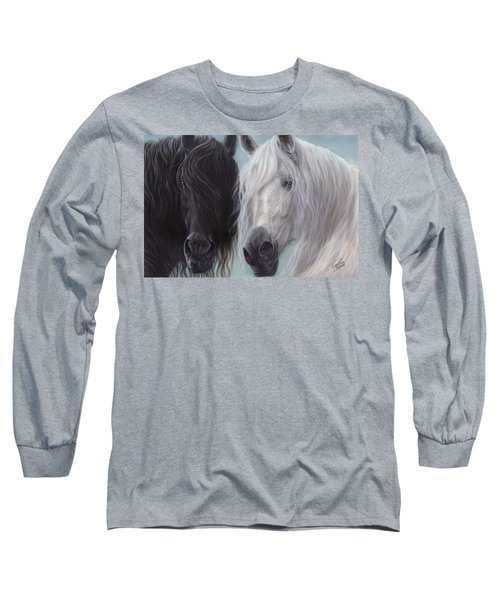 Yin-yang Horses  Long Sleeve T-Shirt