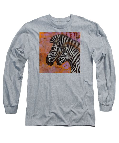 Yipes Stripes Long Sleeve T-Shirt by Pattie Wall