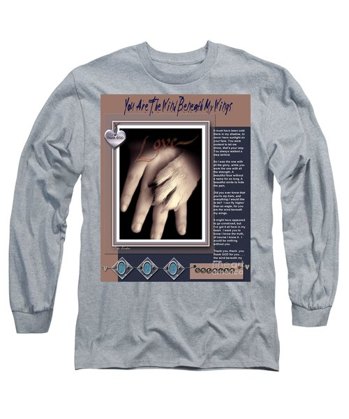 Long Sleeve T-Shirt featuring the digital art You Are My Hero by Kathy Tarochione