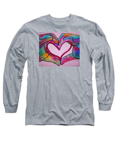 You Hold My Heart In Your Hands Long Sleeve T-Shirt by Eloise Schneider
