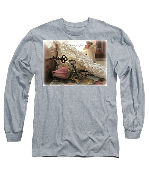 Long Sleeve T-Shirt featuring the photograph You Hold The Key To My Heart by Katie Wing Vigil