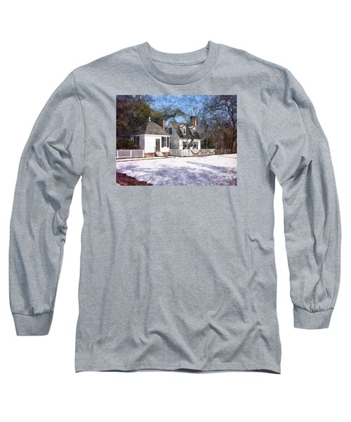 Yule Cottage Long Sleeve T-Shirt by Shari Nees