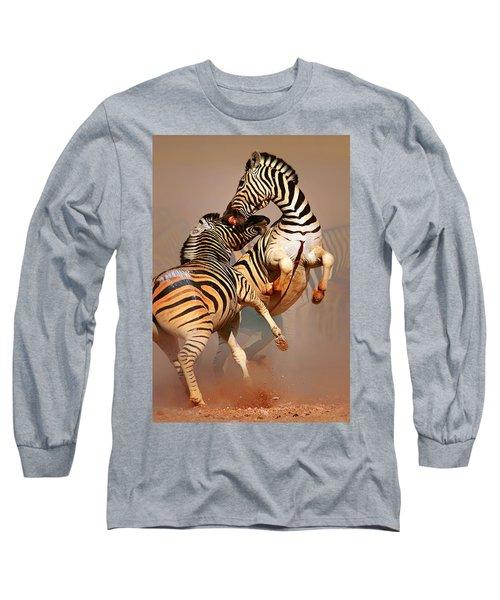 Zebras Fighting Long Sleeve T-Shirt