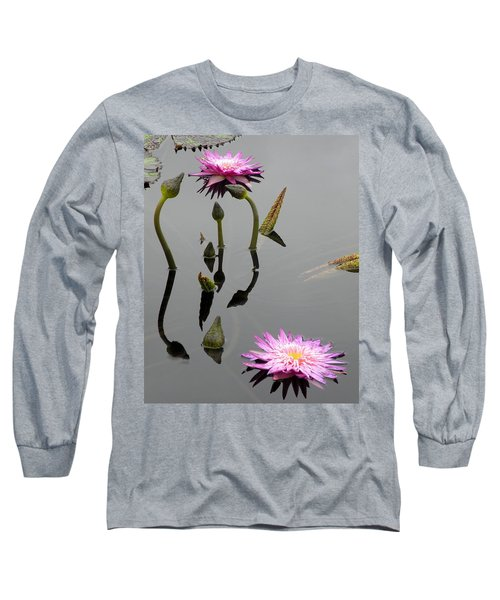Long Sleeve T-Shirt featuring the photograph Zen Lilies by Kim Bemis