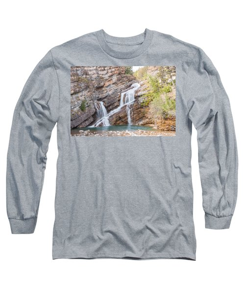 Long Sleeve T-Shirt featuring the photograph Zigzag Waterfall by John M Bailey