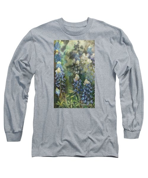 Bluebonnet Blessing Long Sleeve T-Shirt by Karen Kennedy Chatham