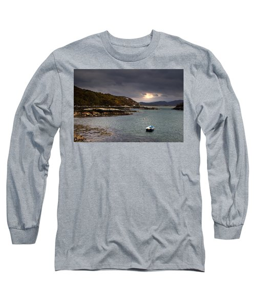 Boat In Water, Loch Sunart, Scotland Long Sleeve T-Shirt