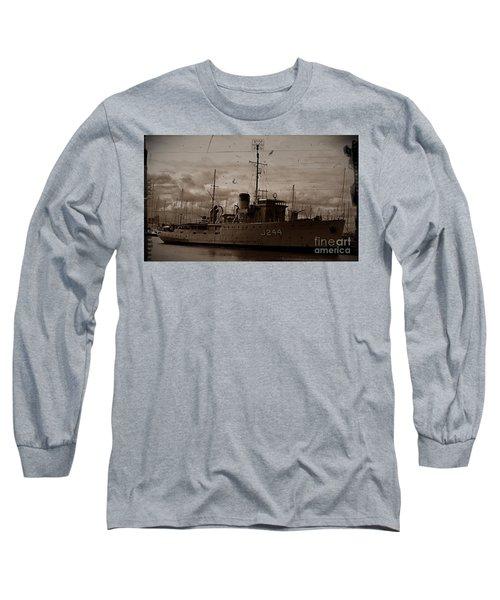 Long Sleeve T-Shirt featuring the photograph Hmas Castlemaine 2 by Blair Stuart