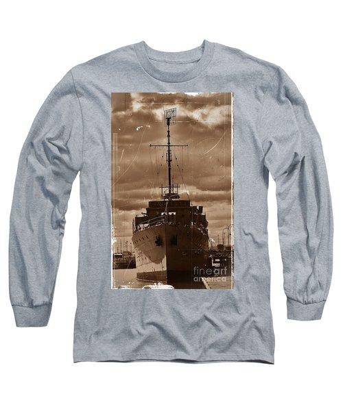 Long Sleeve T-Shirt featuring the photograph Hmas Castlemaine by Blair Stuart