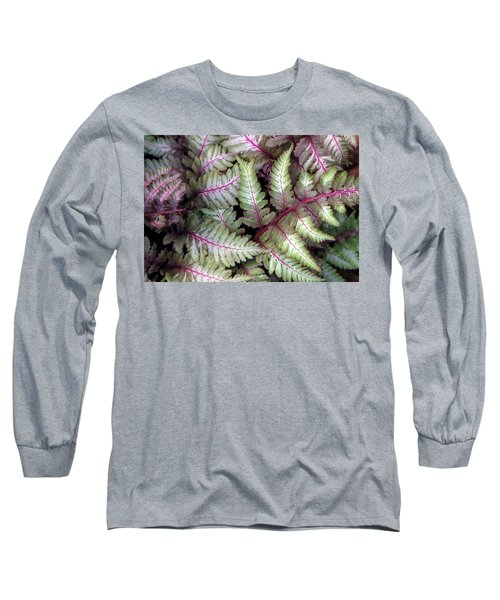 Japanese Painted Fern Long Sleeve T-Shirt by Chris Anderson