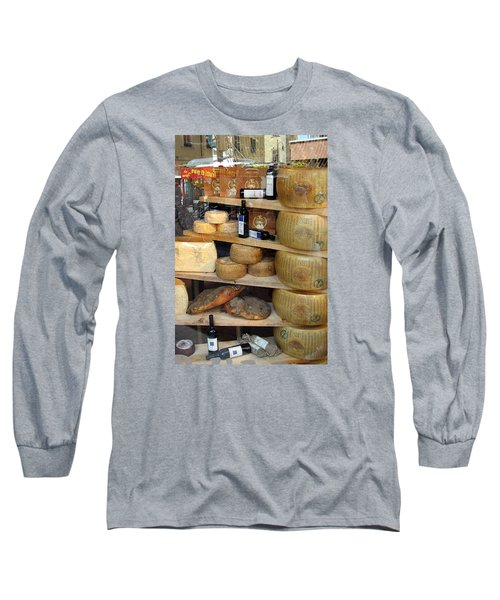 Long Sleeve T-Shirt featuring the photograph Parmesan Rounds by Carla Parris