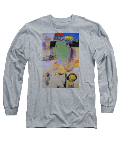 Long Sleeve T-Shirt featuring the painting 10th Street Bass Hole by Cliff Spohn