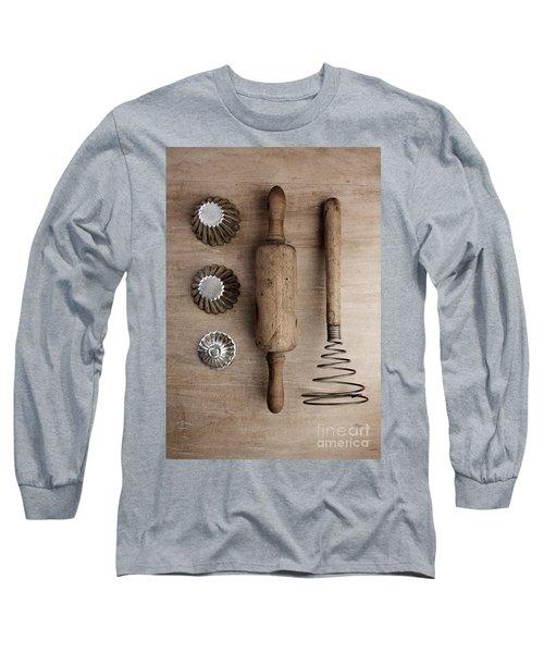 Vintage Cooking Utensils Long Sleeve T-Shirt