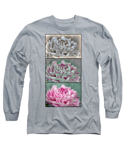 Peony Named Shirley Temple Long Sleeve T-Shirt by J McCombie