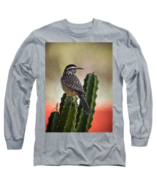 A Cactus Wren  Long Sleeve T-Shirt