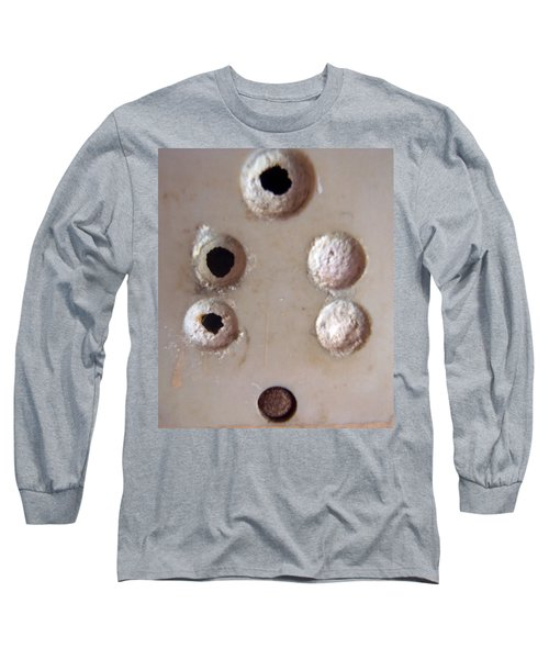 Long Sleeve T-Shirt featuring the photograph A Clogged Up 5 Point Electric Plug Point by Ashish Agarwal