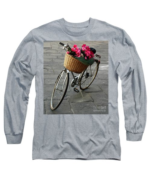 Long Sleeve T-Shirt featuring the photograph A Flower Delivery by Vivian Christopher