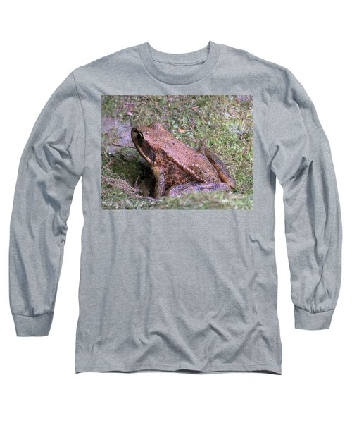 Long Sleeve T-Shirt featuring the photograph A Friendly Frog by Chalet Roome-Rigdon