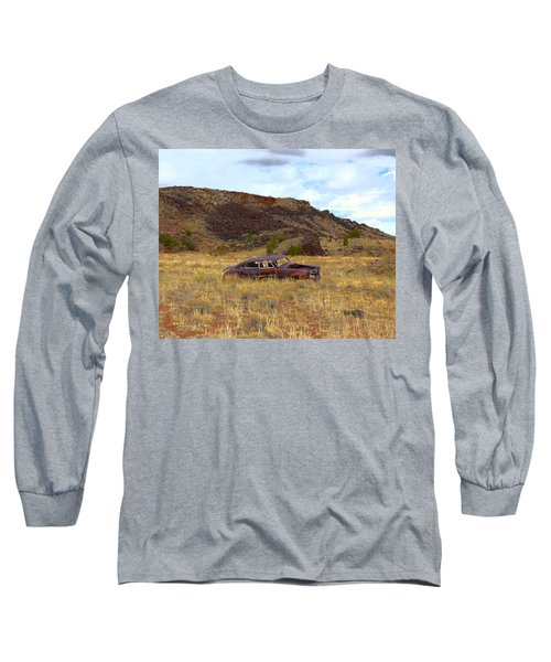 Long Sleeve T-Shirt featuring the photograph Abandoned Car by Steve McKinzie