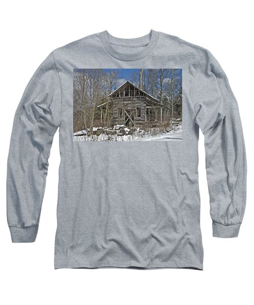 Abandoned House In Snow Long Sleeve T-Shirt