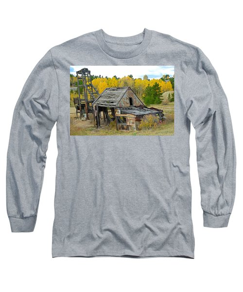 Abandoned Mine In Autumn Long Sleeve T-Shirt